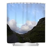 Clowdy Drive Shower Curtain