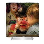 Clown - Face Painting Shower Curtain by Mike Savad