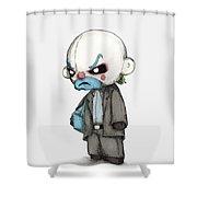 Clown Bank Robber Plush Shower Curtain