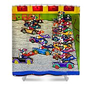 Clown Car Racing Game Shower Curtain