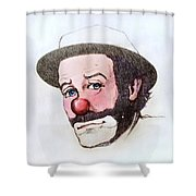 Clown Emmett Kelly Shower Curtain