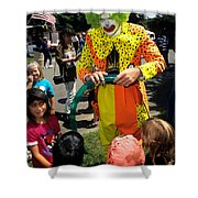 Clown Entertaining Kids Shower Curtain
