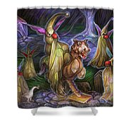 Clown Ghosts Play In A Graveyard Shower Curtain