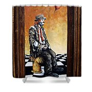 Clown S Melancholy Shower Curtain