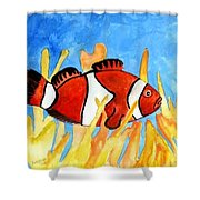Clownfish Marine Sealife Art Print Shower Curtain