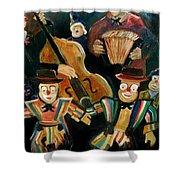 Clowns Shower Curtain by Pol Ledent