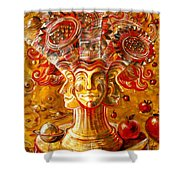 Clowns With Sunflowers Shower Curtain