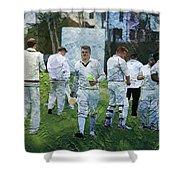 Club Cricket Tea Break Shower Curtain