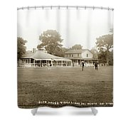 Club House And Golf Links, Old Del Monte, Monterey, California Circa 1920 Shower Curtain