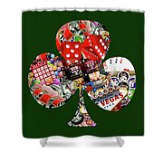 Club Playing Card Shape  Shower Curtain