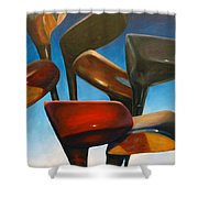 Clubs Rising Shower Curtain