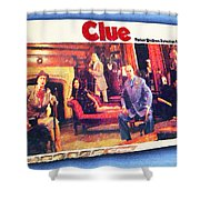 Clue Board Game Painting Shower Curtain