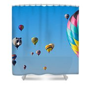 Cluttered Sky Shower Curtain