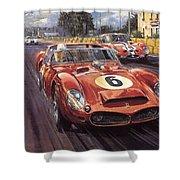 Cma 051 1962 Le Mans Ferrari 330 Driver Phil Hill Roy Rob Shower Curtain