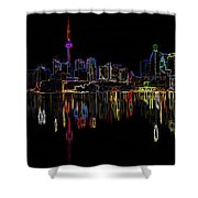 Cn Tower Outline Shower Curtain