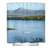 Co Mayo, Ireland Fishing Boat In Clew Shower Curtain