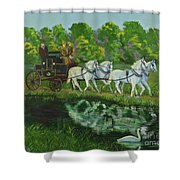 Coach And Four In Hand Shower Curtain