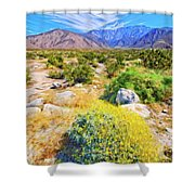 Coachella Spring Shower Curtain