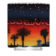 Coachellaland Shower Curtain