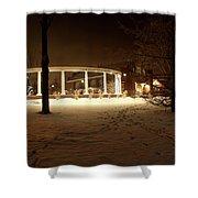 Coady International Institute Winter Night Nova Scotia Shower Curtain