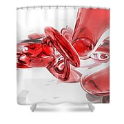 Coagulation Abstract Shower Curtain