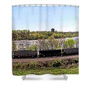 Coal Train Shower Curtain