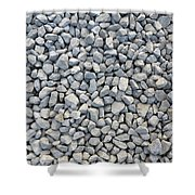 Coarse Gravel Shower Curtain