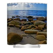 Coarse Sand Shower Curtain