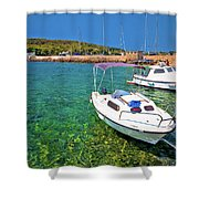 Coast And Beach Of Prvic Island Summer View Shower Curtain