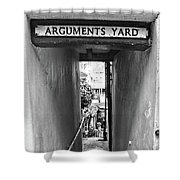 Coast - Arguments Yard, Whitby, England Shower Curtain