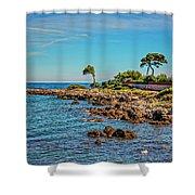 Coast At Antibes France Dsc02221 Shower Curtain
