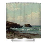 coast by Alfred Thompson Bricher Shower Curtain