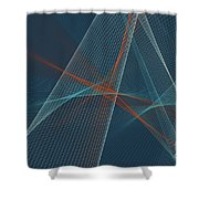 Coast Computer Graphic Line Pattern Shower Curtain
