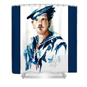 The Uss Red White And Blue Coast Guard 1923 Shower Curtain