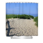 Coast Guard Beach Ccns Shower Curtain