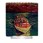 Coast Guard Before The Storm Shower Curtain