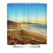 Coast Highway Del Mar Shower Curtain