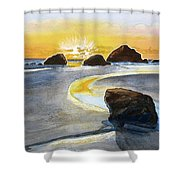 Coast Of Brandon, Oregon Shower Curtain