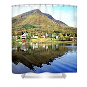 Coast Of Norway Reflections Shower Curtain