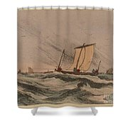 Coast Stormy Sea Shower Curtain