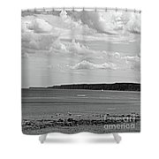 Coast - The Lonely Boat Shower Curtain