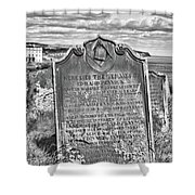 Coast - Whitby Freemason Grave Shower Curtain