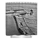 Coast - Whitby Harbour Shower Curtain