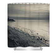 Coast With A Lighthouse Shower Curtain
