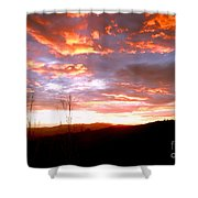 Costa Rican Mountain Valley Sunset Shower Curtain