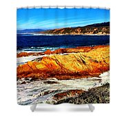 Coastal Abstraction Shower Curtain