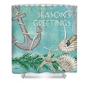 Coastal Christmas 4 Shower Curtain