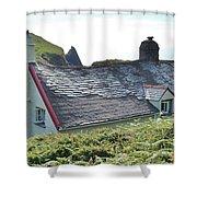 Coastal Cottage Nestled In Sunshine Shower Curtain