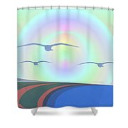 Coastal Delight Shower Curtain