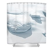 Coastal Dunes. Series Ethereal Blue Shower Curtain